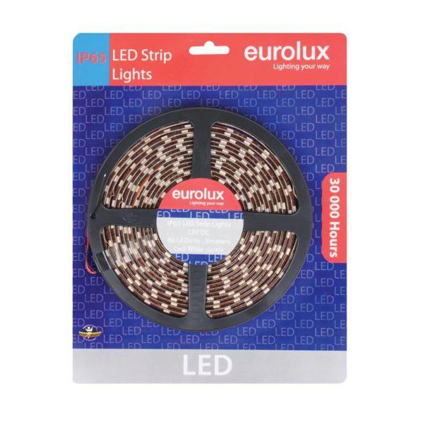 EUROLUX G650CW, 5m 5050 LED Strip, Warm White, 60 LED's Per Meter