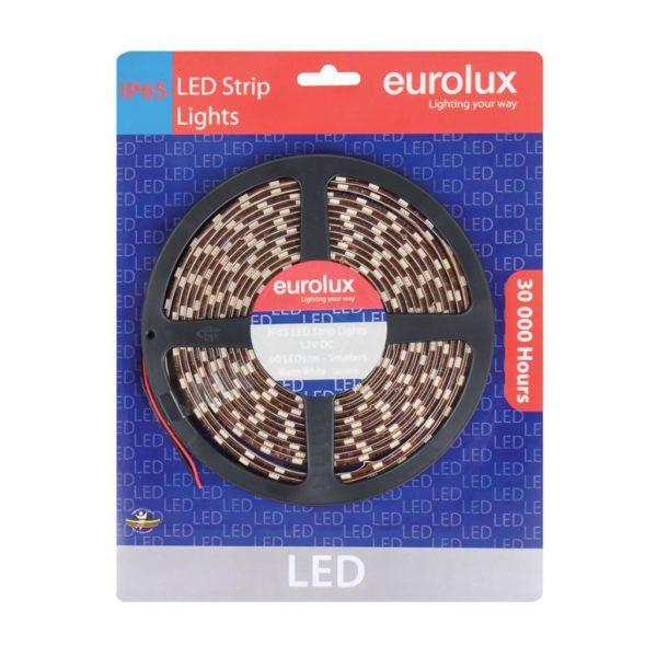 EUROLUX G650WW, 5m 5050 LED Strip, Warm White, 60 LED's Per Meter