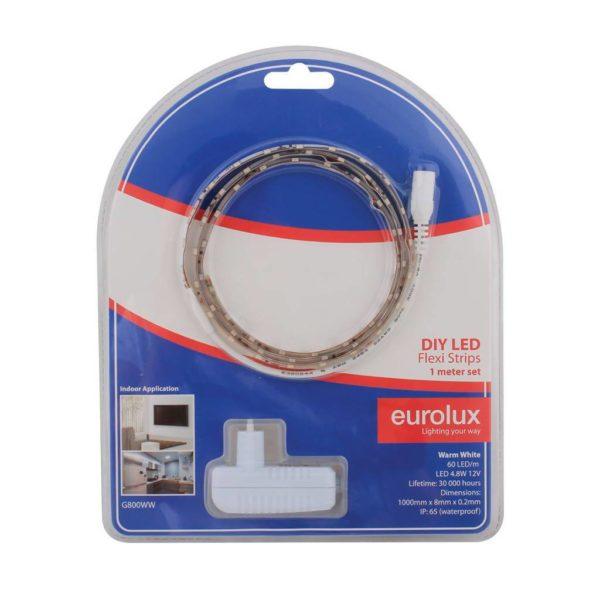 EUROLUX G800WW DIY LED Strip, 1 Metre, 12V, Warm White
