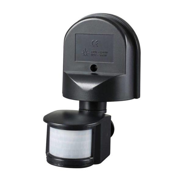 EUROLUX Infrared Motion Sensor, 1200W, Black