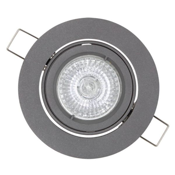 EUROLUX Jupiter Outdoor Round Downlight, GU10, 50W, Graphite