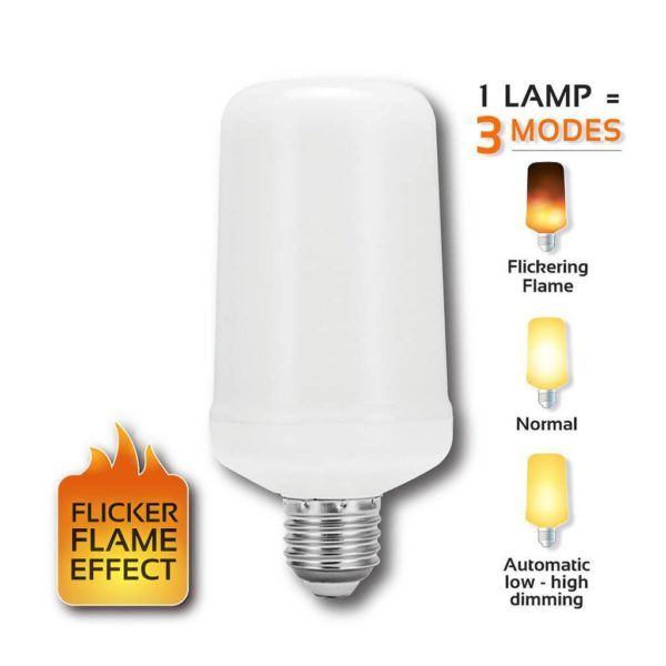 EUROLUX LED Flicker Flame Lamp, E27, 3W, 1400K