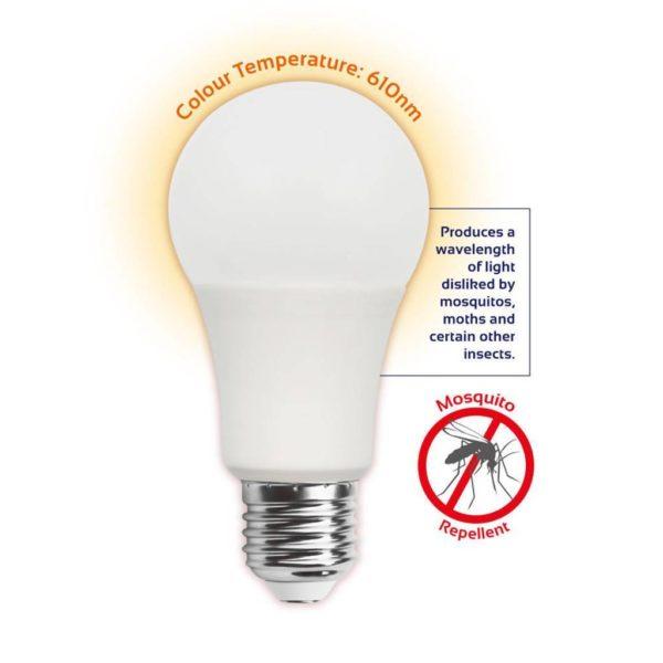 EUROLUX LED Mosquito Repellent Globe, E27, 6W