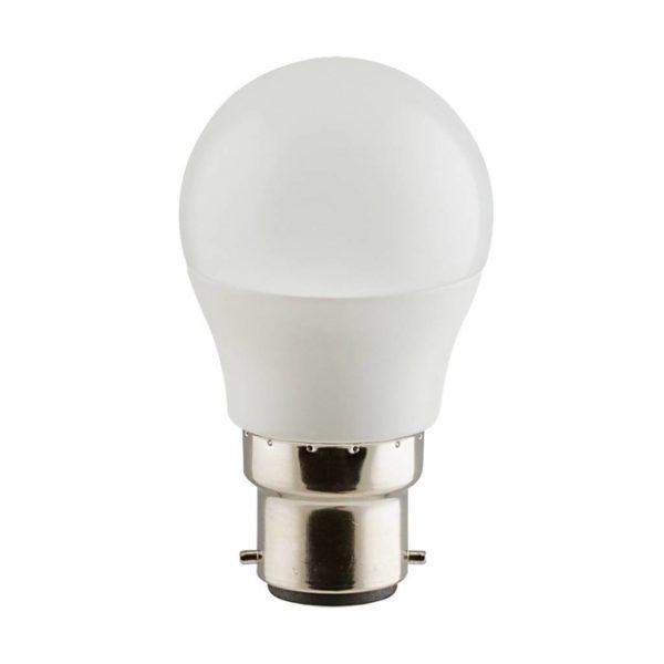 EUROLUX LED Opal Golfball, B22, 5W, Warm White