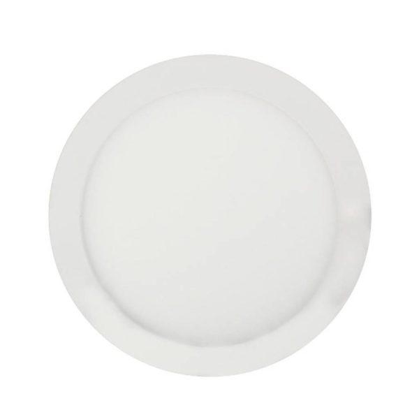 EUROLUX LED Panel Downlight, Round, 12W, 4000K, White