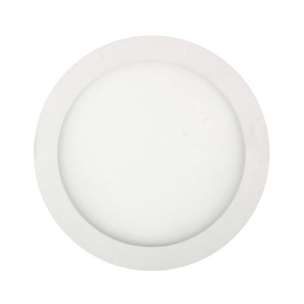 EUROLUX LED Panel Downlight, Round, 15W, 4000K, White