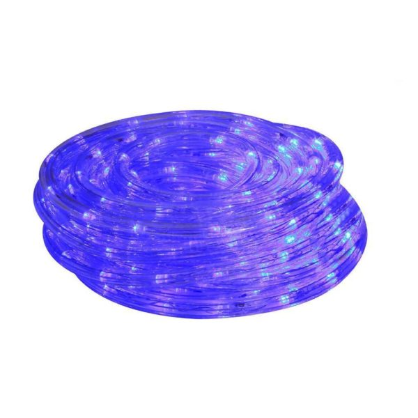 EUROLUX LED Rope Light With 8 Function Control, Blue, 10m