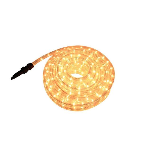 EUROLUX LED Rope Light With 8 Function Control, Clear Warm White, 10m