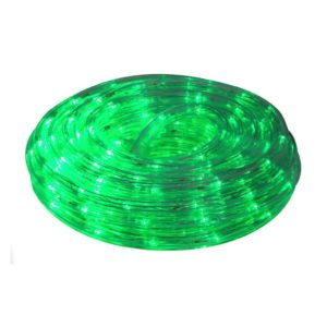 EUROLUX LED Rope Light With 8 Function Control, Green, 10m