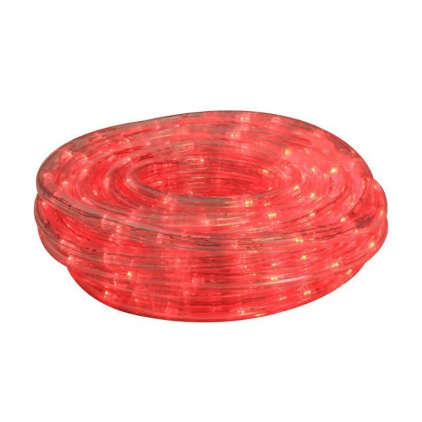 EUROLUX LED Rope Light With 8 Function Control, Red, 10m