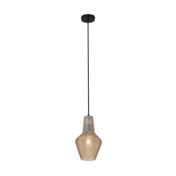 EUROLUX Milano P796AM Pendant, Small, 1 Light, Amber Glass