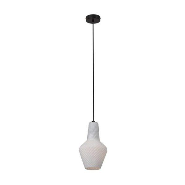EUROLUX Milano P796W Pendant, Small, 1 Light, Milk White Glass