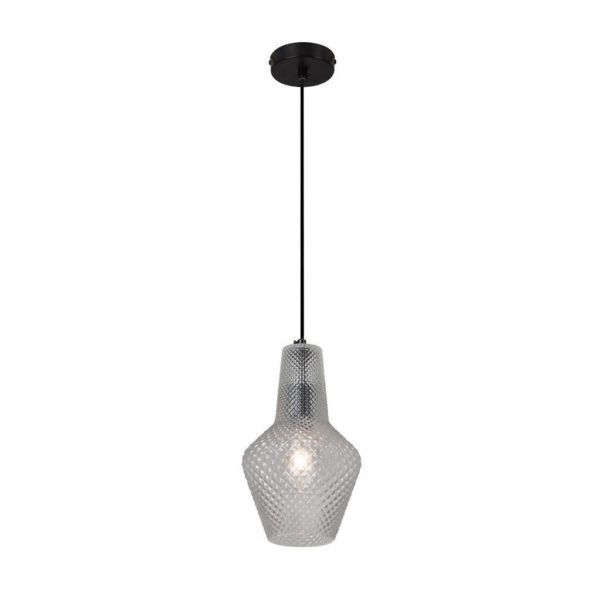 EUROLUX Milano P797CL Pendant, Large, 1 Light, Clear Glass