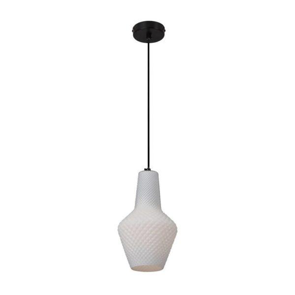 EUROLUX Milano P797W Pendant, Large, 1 Light, Milk White Glass
