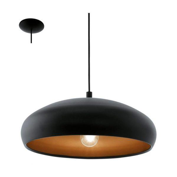 EUROLUX Mogano P685B Pendant, 1 Light, Black
