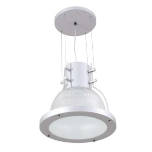 EUROLUX PR105 High Bay, E27, 100W, Polycarbonate, Frosted Glass, Silver