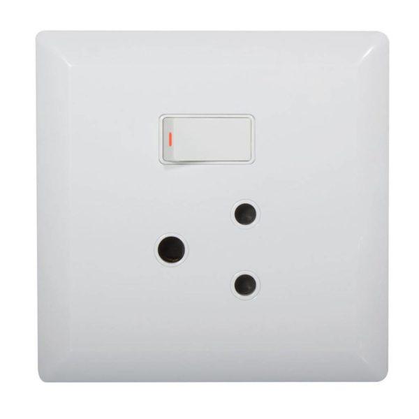 EUROLUX Recessed Plastic Wall Socket, 1 x 16A, 100mm x 100mm