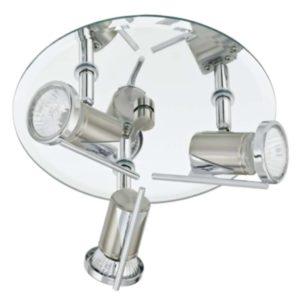 EUROLUX S137 Tamara Round Bathroom Spot Light, 3 x GU10, Satin Chrome