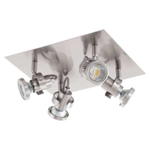 EUROLUX S152 Tukon 3 LED Spot Light, GU10, 4 x 3.3W, Satin Chrome
