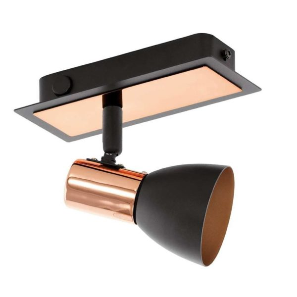 EUROLUX S156 Barnham LED Spot Light, GU10, 1 x 3.3W, Black & Copper