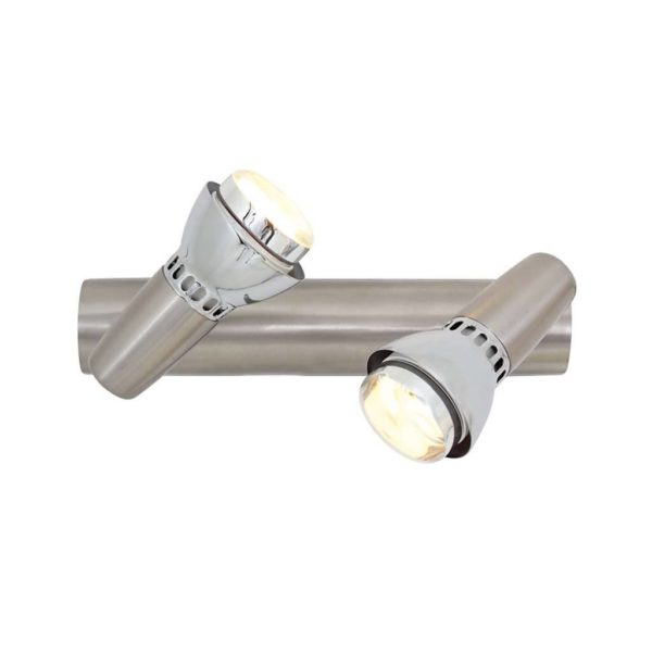 EUROLUX S183SC Zap Spot Light, 2 x E14, 40W, Satin Chrome