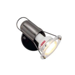 EUROLUX S20GM Mini Disc Spot Light, E14, 40W, Gun Metal