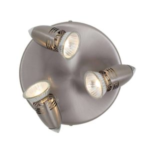 EUROLUX S222SC Magnum Round Spot Light, 3 x GU10, 50W, Satin Chrome