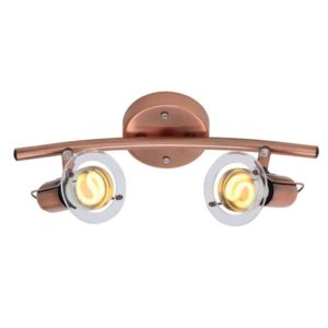 EUROLUX S22C Mini Disc Spot Light Bow, 2 x E14, 40W, Copper