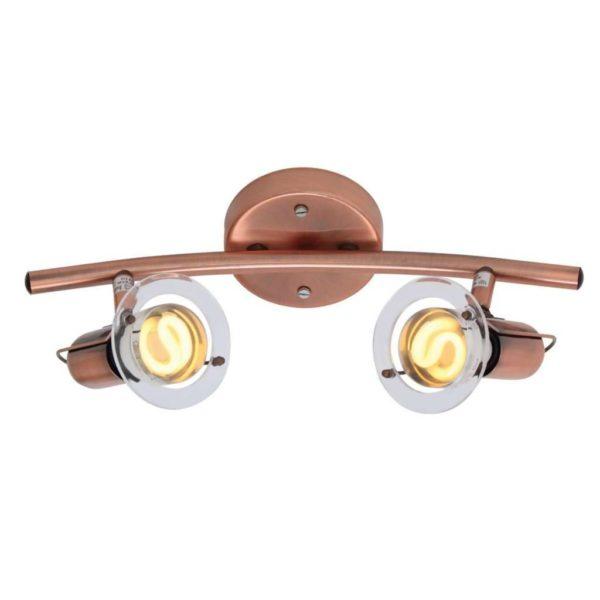 EUROLUX S22C Mini Disc Spot Light Bow, 2 x E14, 40W, Copper