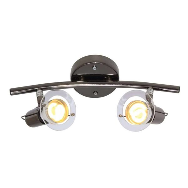EUROLUX S22GM Mini Disc Spot Light Bow, 2 x E14, 40W, Gun Metal