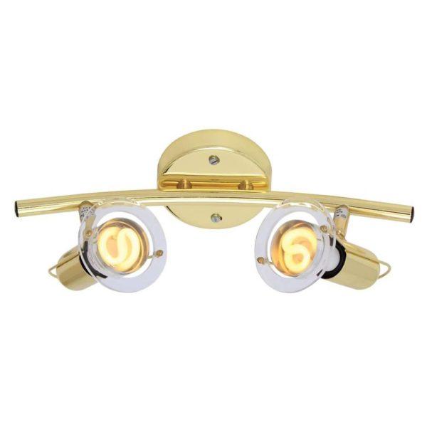 EUROLUX S22PB Mini Disc Spot Light Bow, 2 x E14, 40W, Polished Brass