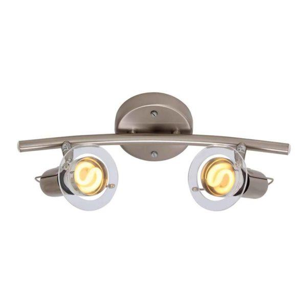 EUROLUX S22SC Mini Disc Spot Light Bow, 2 x E14, 40W, Satin Chrome