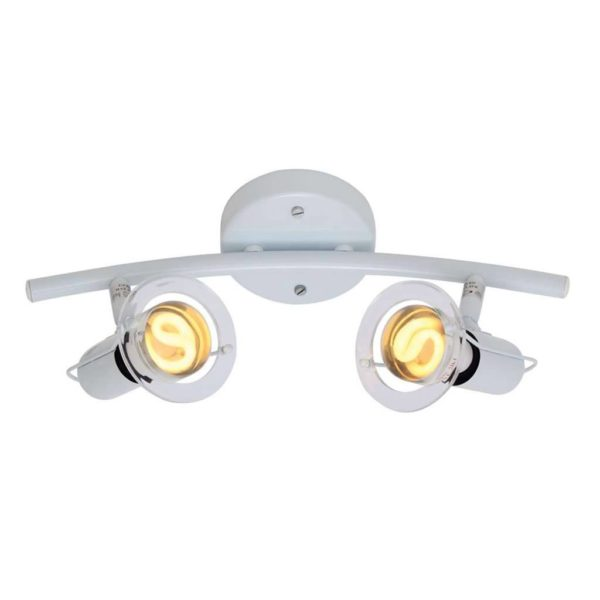 EUROLUX S22W Mini Disc Spot Light Bow, 2 x E14, 40W, White