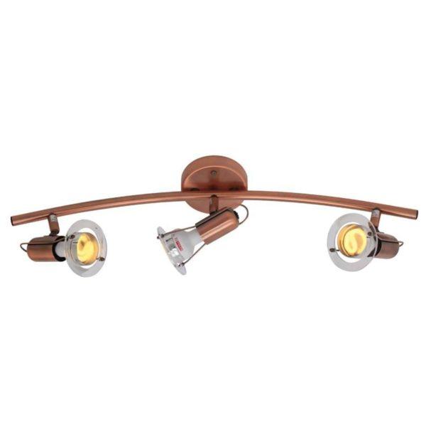 EUROLUX S24C Mini Disc Spot Light Bow, 3 x E14, 40W, Copper