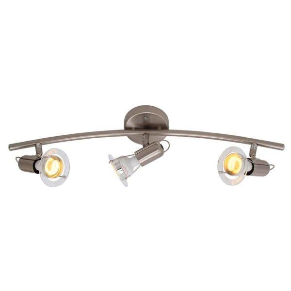 EUROLUX S24SC Mini Disc Spot Light Bow, 3 x E14, 40W, Satin Chrome