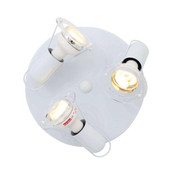 EUROLUX S25W Mini Disc Spot Light Plate, 3 x E14, 40W, White