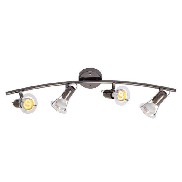 EUROLUX S26GM Mini Disc Spot Light Bow, 4 x E14, 40W, Gun Metal
