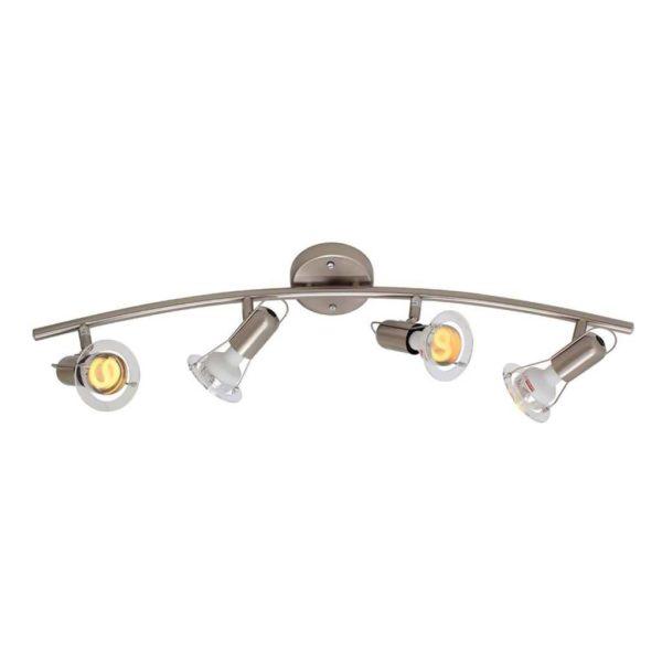 EUROLUX S26SC Mini Disc Spot Light Bow, 4 x E14, 40W, Satin Chrome