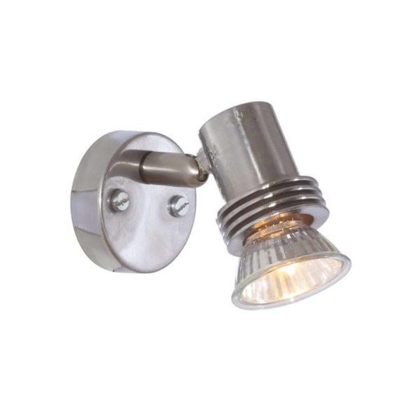 EUROLUX S27SC Mini Spot Light, GU10, 50W, Satin Chrome