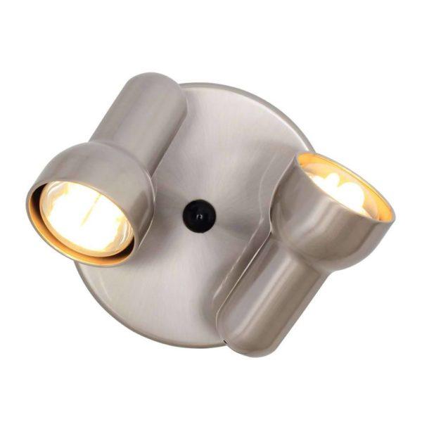 EUROLUX S313SC Turbo Spot Light, 2 x E27, R63, 60W, Satin Chrome