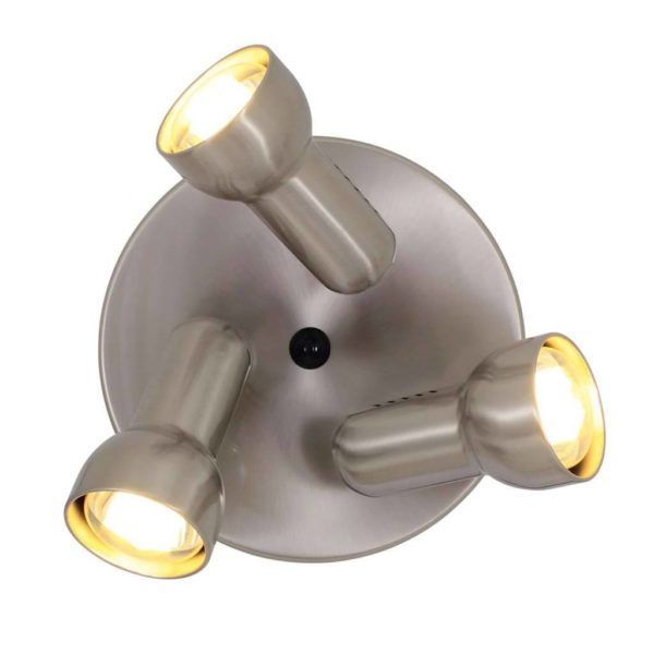 EUROLUX S315SC Turbo Round Spot Light, 3 x E27, R63, 60W, Satin Chrome