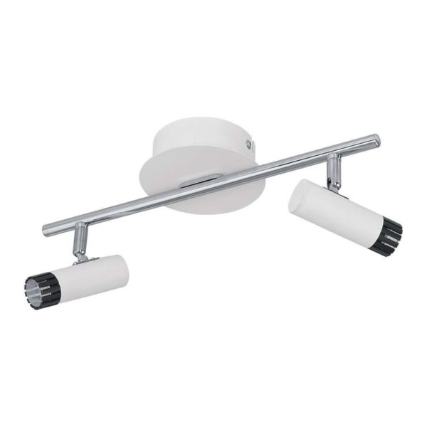EUROLUX S366 Lianello LED Spot Light On Bar Mount, 2 x 5W, Chrome & White