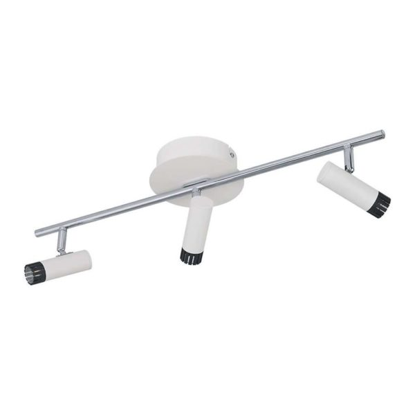 EUROLUX S367 Lianello LED Spot Light On Bar Mount, 3 x 5W, Chrome & White