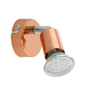 EUROLUX S428 Buzz LED Spot Light, 1 x GU10, 3W, Copper