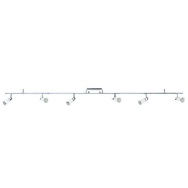 EUROLUX S431 Eridan LED Spot Light On Bar Mount, 6 x GU10, 5W, Satin Chrome & White