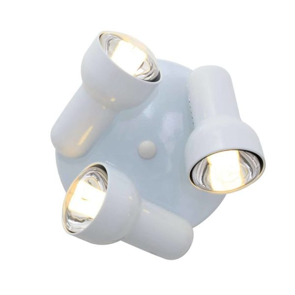 EUROLUX S45W Turbo Round Spot Light, 3 x E27, R80, 60W, White