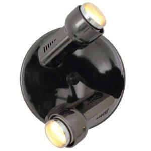 EUROLUX S75GM Delta Spot Light On Round Plate, 2 x E14, R50, 40W, Gun Metal