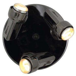 EUROLUX S76GM Delta Spot Light On Round Plate, 3 x E14, R50, 40W, Gun Metal