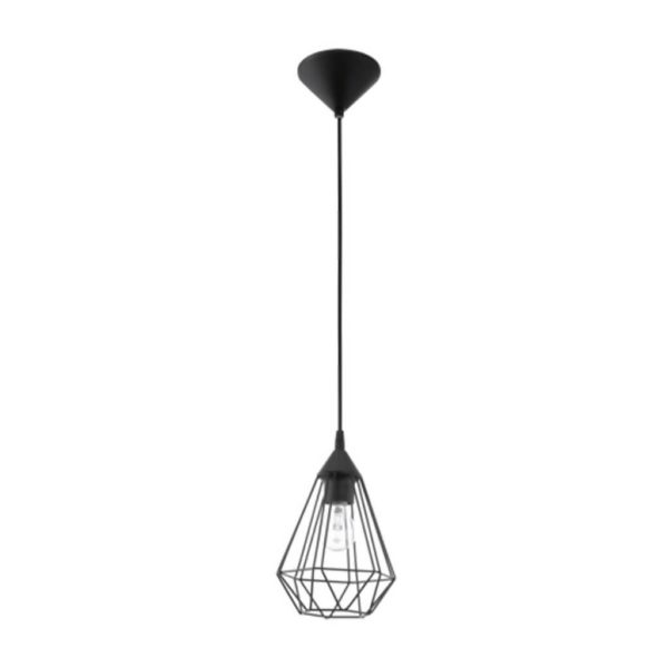 EUROLUX Tarbes P689 Pendant, 1 Light, Black, 175mm x 264mm