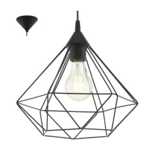 EUROLUX Tarbes P690 Pendant, 1 Light, Black, 325mm x 300mm